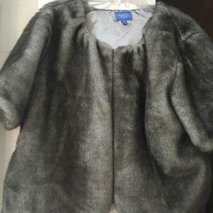 Simply Vera Vera Wang faux fur jacket silver gr XL